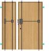 Zabezpečení stávajících dveří rozvorovým zámkem