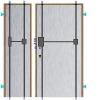 Zabezpečení stávajících dveří rozvorovým zámkem s oplechováním